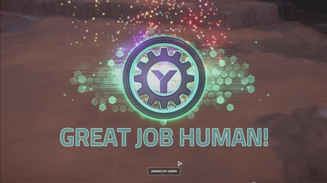 great job human
