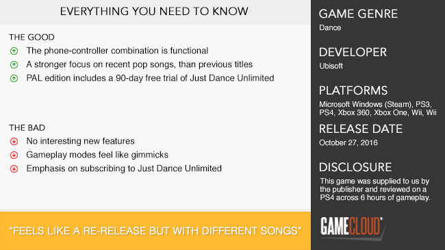 Just Dance 2017 Review | GameCloud